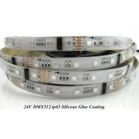 Buy cheap DMX512 RGB LED Strip light 24V 60LED/meter,IP65 silicone glue coating from wholesalers