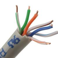 Buy cheap Bare Copper Network Fiber Cable , Solid 4 Pair Cat5e UTP Cable With Orange Color product