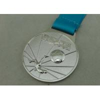 China Customized Ribbon Football Awards Medals Full Relief Zinc Alloy on sale