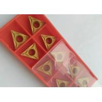 China PVD CVD Coating Indexable Carbide Inserts / Indexable Turning Inserts Yellow Color on sale