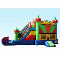 Buy cheap 27Ft Colorful Inflatable Bouncer Combo Cold-resistant & Fire-retardant product