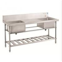 Buy cheap Kitchen Stainless Steel Double Sinks Table/ Work Table With Sink Knockdown Series product