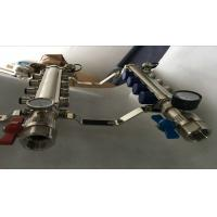 Buy cheap High Strength Manual Radiant Heat Brass Water Manifold 2 ways To12 ways product