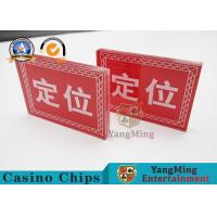 China Dedicated Positioning Casino Game Accessories Screen Printing Transparent Acrylic on sale