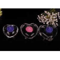 Buy cheap High White Transparent glass tealight candle holders for wedding centerpieces , Heart Shape product