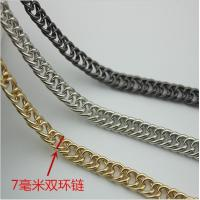 Buy cheap Innovative design top quality iron material bag hardware 7 mm width light gold double metal chains for handbags product
