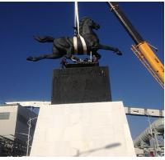 Buy cheap Large Modern cast Bronze Horse Sculptures product
