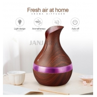 Buy cheap WIFI 400ml Vase Shape Security Fog Machine Smart Ultrasonic Wood Essentia Oil Aroma Diffuser Air Humidifier with Remote product