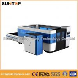 China Mild steel , aluminium , brass and copper fiber cnc laser cutting machine on sale