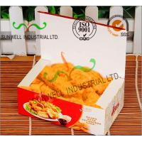 Buy cheap Coated Paper Display Foldable Cardboard Boxes For Fried Food Products Packaging product