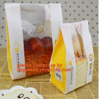 Buy cheap Customize 3 Side Visible Clear Window Offset Printing Bakery Bags, Customize V Bottom with Clear Window Food Grade Toast product