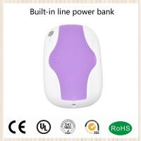Battery Portable Charger Power Bank  Built-in USB cable 3in1 4000mah mobile phone Charger
