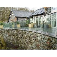Buy cheap Exterior stainless steel railings price with toughend glass product
