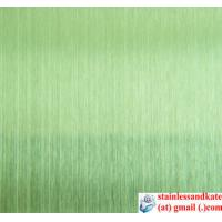 China Titanium coated stainless steel sheet (HL/hairline) on sale