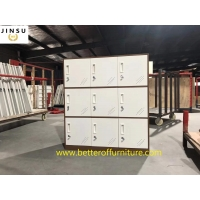 Buy cheap Partition steel cabinet 4/6/9/12 door for public space white and gray color from wholesalers