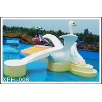 Kids Small Cartoon Swan Fiberglass Water Pool Slides For Aqua Park