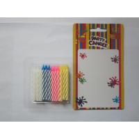 China 24 Pcs Twisted Birthday Candles Mix Color No Smoking Wax 19g Regular Candle wholesale