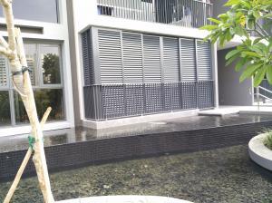 Buy cheap Fireproof Aluminium Louver Doors , Frosted Glass Balcony Screen Door product
