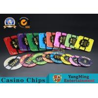 Square Crystal Acrylic Poker Chips With Custom Logo / Super Touch Texture Poker Plaque