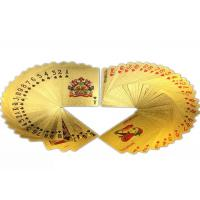 China Multipurpose Colorful Gold Plated Playing Cards Gambling 57*87MM on sale