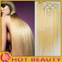 China Stock Mixed Color Clip in Hair Extensions 20 Inch Straight For Female on sale