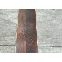 China Dark Laminate flooring  3-strips with Double quick locking glueless floating Floors on sale
