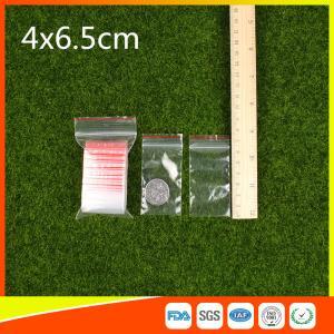 Buy cheap Le zip-lock d'emballage de stockage met en sac la catégorie comestible d'épaisseur de 1-4 mil et non-toxique faciles product
