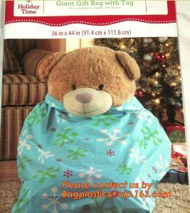 Buy cheap table bag BIODEGRADABLE Christmas tree removal bag, hot sale drawstring chirstmas santa sack gift bag product