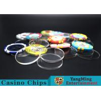 Buy cheap Acrylic Plastic Separate Customized Poker Chips For Gambling Dedicated Using product