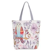 Buy cheap Floral Printed Womens Cartoon Canvas Bags Shopper Tote With Cotton Handle product