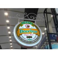 Buy cheap Aluminum Frame Vacuum Forming Light Box / Pub Beer Light Box Waterproof With Hanging Sign Iron Bracket product