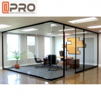 Buy cheap Aluminum Glass Office Partitions Frosted Glass Partitions Sound Proof product