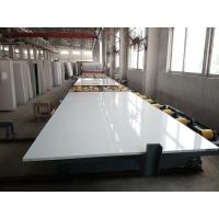 Buy cheap Pure White Quartz Stone Slab Customized Exporting Countertop 3000 X 1400 Mm Size product