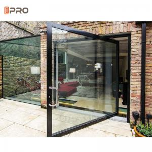 Buy cheap Black 6A 12A Space Aluminum Internal Glass Pivot Doors For Office product