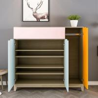 Buy cheap Durable Particle Board Shoe Rack , Solid Wood Shoe Cabinet Space - Saving product