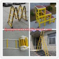 Buy cheap Straight fiberglass ladder Collapsible ladder Fiberglass Insulation product