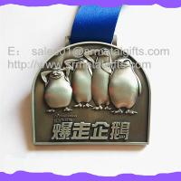 China Antique silver blank engraved swimming medals, ready mold, antique silver swimming medals wholesale