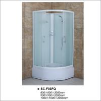Buy cheap High Tray Bathroom Shower Enclosures , Quadrant Shower Room with Fabric Glass product