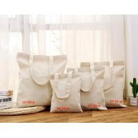 Buy cheap Recyclable Natural Cotton Canvas Shopping Bag With Zipper Closure product