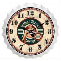 Buy cheap New Sale Metal Beer Cap Wall Clocks Latest Antique Beer Bottle Cap Novelty Wall Clock Home Wall Art Decoration Custom product