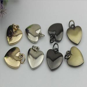 Buy cheap 20mm Small love heart shape nickel color metal handbag hanging ornament product