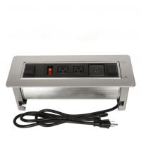 Buy cheap Multi - Functional Clamshell Flip Up Sockets / Office Desk Mounted Electrical Outlet product