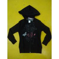 Buy cheap Little Girls Zip Up Hoodies Long Sleeve Cotton French Terry Zip Hoodie Butterfly Print product