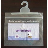 Buy cheap Colorful Printed Cotton Buds Packaging Plastic Bag With Hook Hanger product