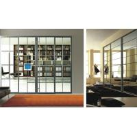 Buy cheap Heavy Duty Partition Sliding Doors For Bedroom, Luxury Modern Aluminum Glass Room Dividers product