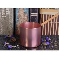 Buy cheap OEM Tin Candle Holders 8oz Wax Filling Rose Gold Votive Metal Candle Jar product