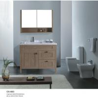 Buy cheap 90cm Wide PVC Floor Mounted Bathroom Cabinets with One Door Two Drawers product