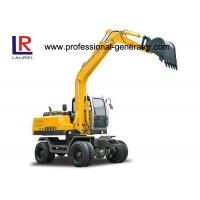 Buy cheap 50KN Digging Force Heavy Construction Machinery , Wheel Excavator with 20Mpa Overdrive Pressure product
