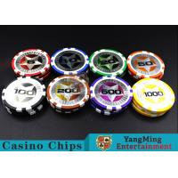 12g 3.5mm Thickness Clay Laser Poker Chips Strong And Difficult To Deformation