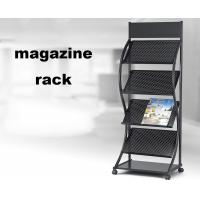 Buy cheap Brochure Magazine Display Shelf , Portable Brochure Display Stands With Logo Design product